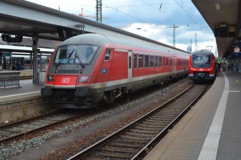 München-Nürnberg-expressz Ingolstadt vezérlőkocsi Nürnberg hauptbahnhof
