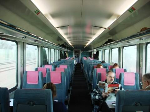 München-Nürnberg-expressz betétkocsi utastér