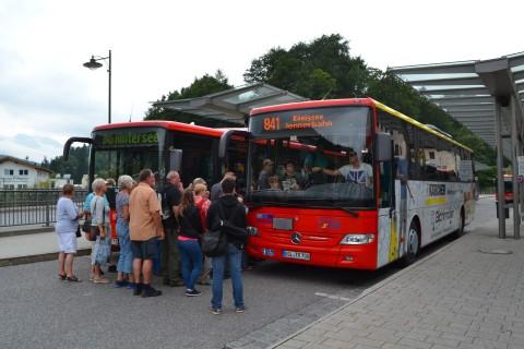 Berchtesgaden vasútállomás autóbusz állomás Bajorország