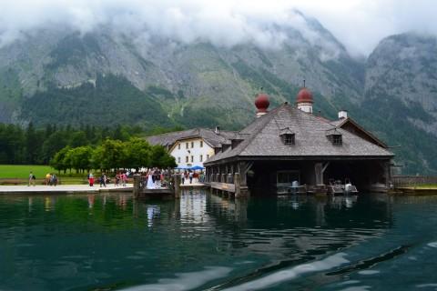 Königssee Obersse Berchtesgaden Nemzeti Park Bajorország St. Bartholomä esküvő