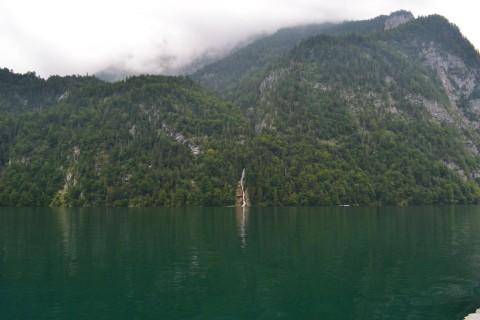Königssee Obersse Berchtesgaden Nemzeti Park Bajorország vízesés