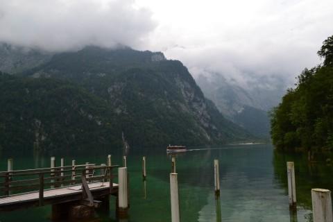 Königssee Obersse Berchtesgaden Nemzeti Park Bajorország sétahajó