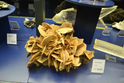 ásvány München múzeum Museum Reich der Kristalle gipsz-homokrózsa