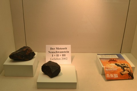 ásvány München múzeum Museum Reich der Kristalle Meteorit Neuschwanstein