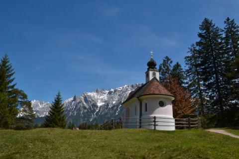 Mittenwald Bajorország Lautersee kápolna