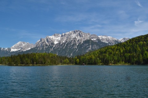 Mittenwald Bajorország Karwandel Lautersee