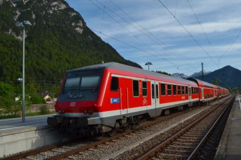 Mittenwald Bajorország emeletes vonat