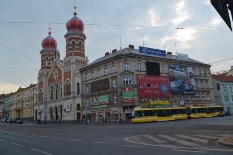 plzen Plzeň zsinagóga Tatra T3 villamos
