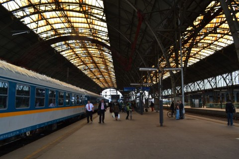 prága főpályaudvar Praha hlavní nádraží Albert Einstein EuroCity