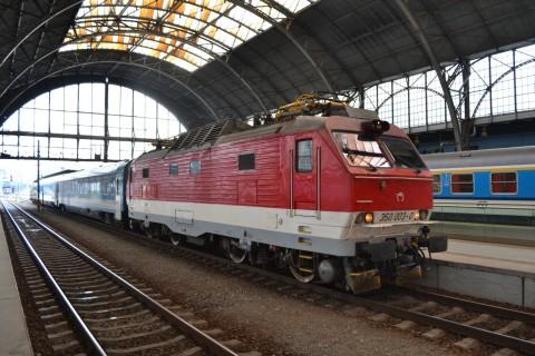 prága főpályaudvar Praha hlavní nádraží ŽSSK 350 sorozat Eurocity