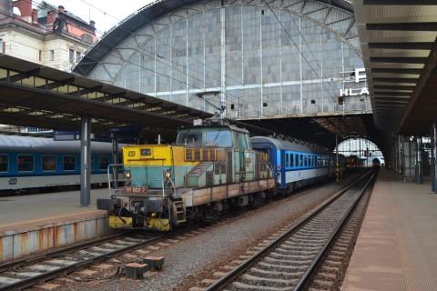 prága főpályaudvar Praha hlavní nádraží ČD 111