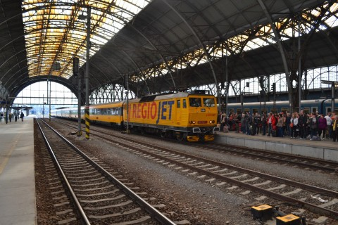 prága főpályaudvar Praha hlavní nádraží RegioJet
