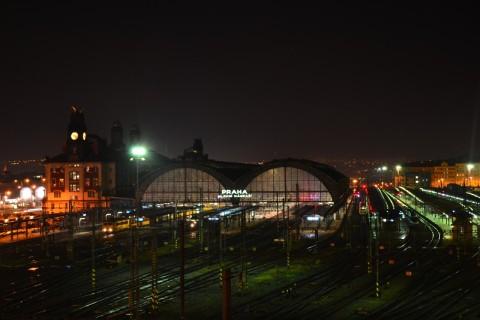 prága főpályaudvar Praha hlavní nádraží