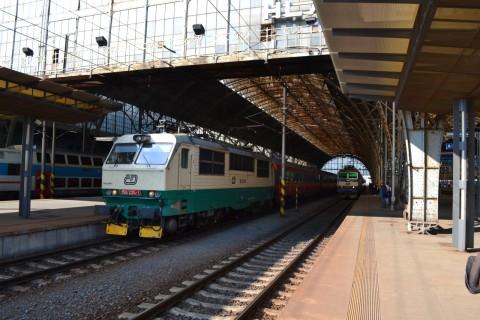 prága főpályaudvar Praha hlavní nádraží ČD 150