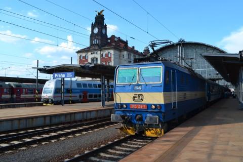 prága főpályaudvar Praha hlavní nádraží ČD 363 Cityelephant