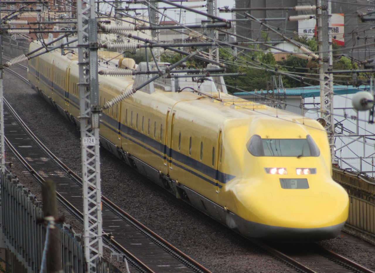 Sinkanszen pálya ellenőrző vonat doctor yellow