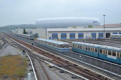 Allianz aréna stadion München U-Bahn Metró Foci futball