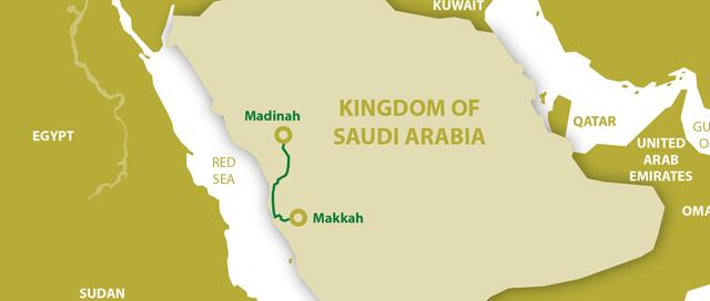 Harmain HSR Szaud-Arábia térkép