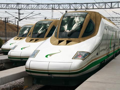 Harmain HSR Szaud-Arábia Talgo vonat