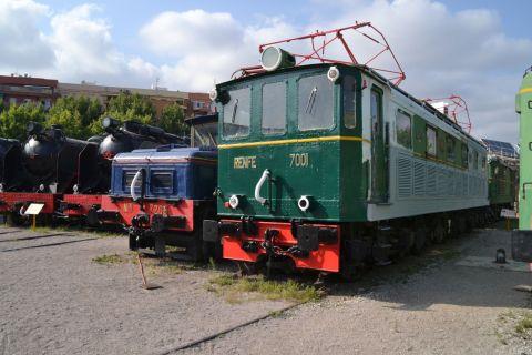 barcelona, Museu del Ferrocarril de Catalunya, katalán vasúti múzeum, Vilanova i la Geltrú, RENFE 7000, RENFE 270