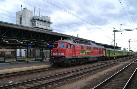 sopron állomás GySEV ludmilla orosz dízelmozdony