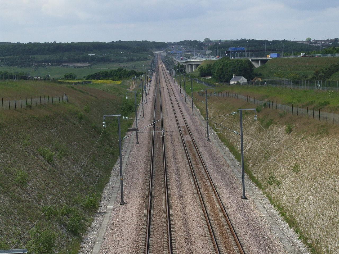 HSL 1 anglia, nagysebességű vasút