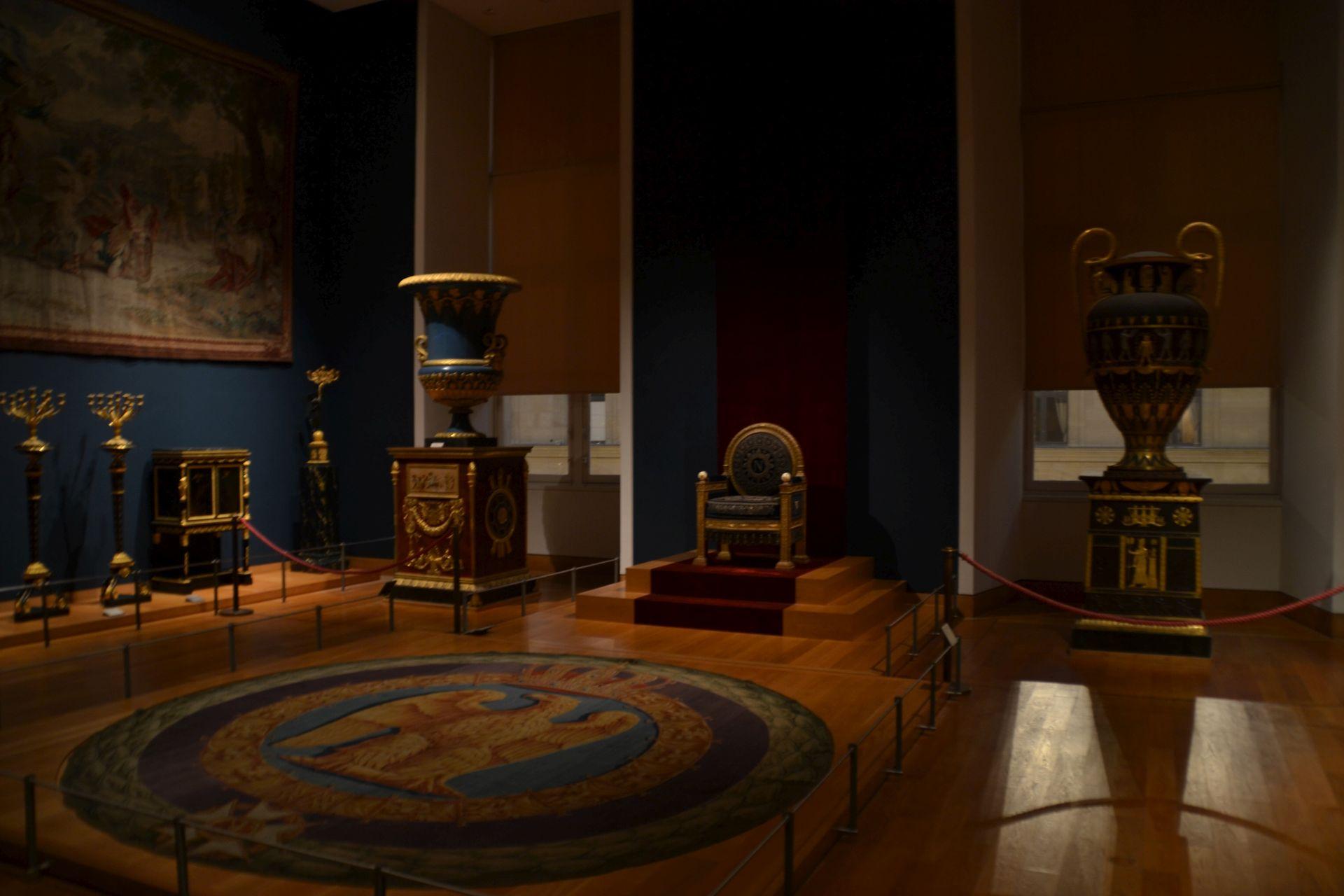 louvre, párizs, múzeum, napóleon, apartman, trónterem