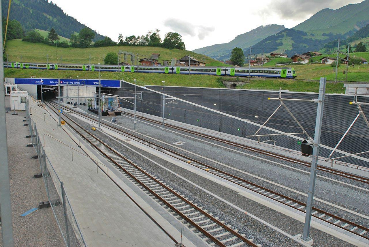 alptransit, frutigen északi bejárat, Lötschberg-bázisalagút