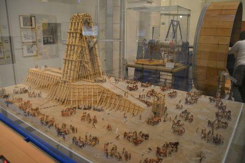 Technisches Museum Wien, Bécs, daru, obeliszk, makett, diorama