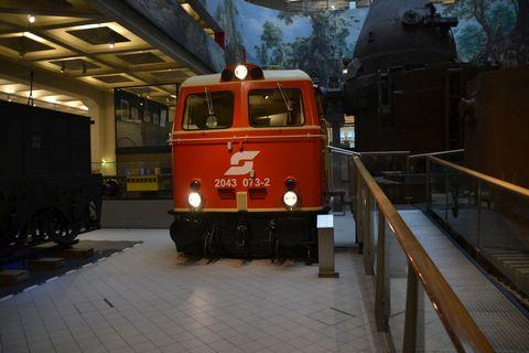 Technisches Museum Wien, Bécs, öbb 2043 sorozat, szimulátor