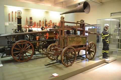 Technisches Museum Wien, Bécs, tűzoltókocsi