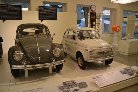 Technisches Museum Wien, Bécs, VW bogár, Steyr-Puch 500 D