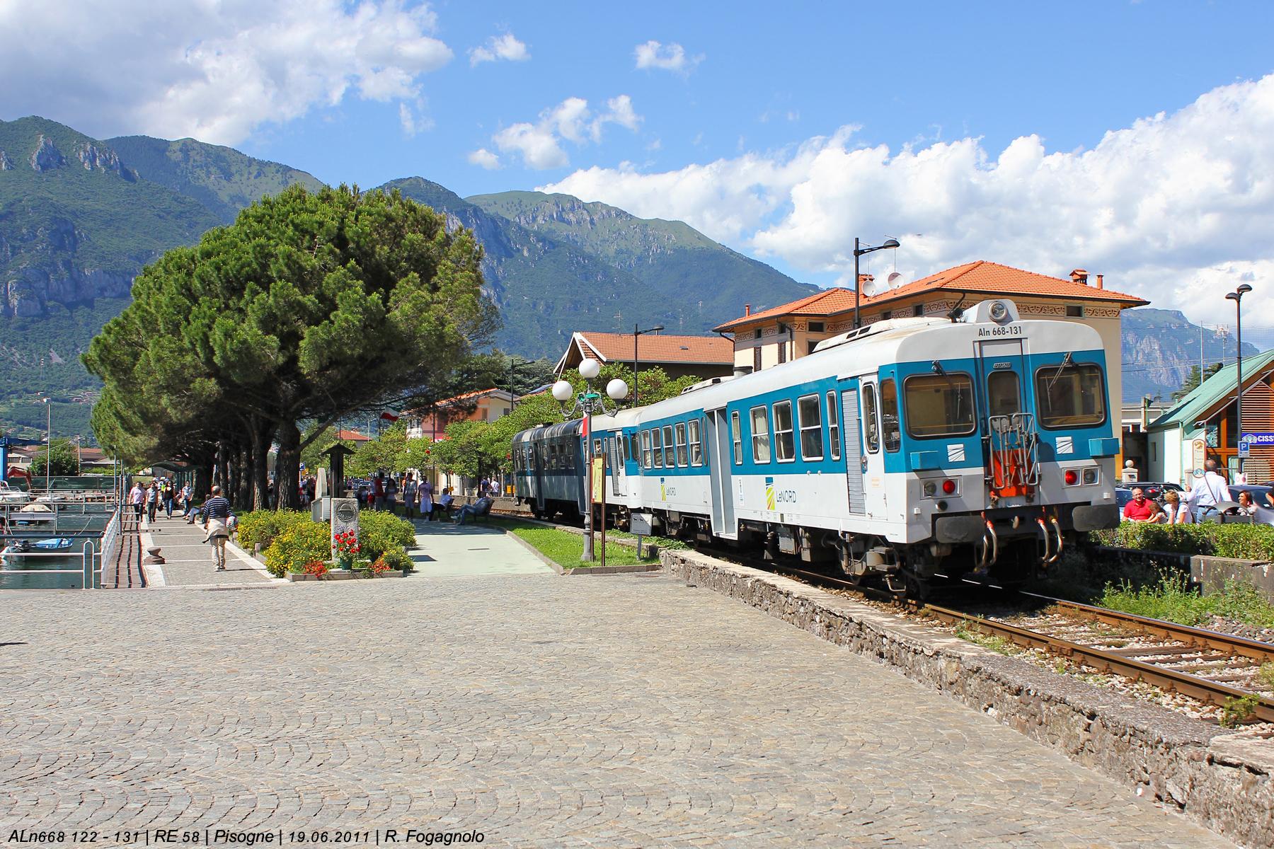 Pisogne, Brescia–Iseo–Edolo-vasútvonal