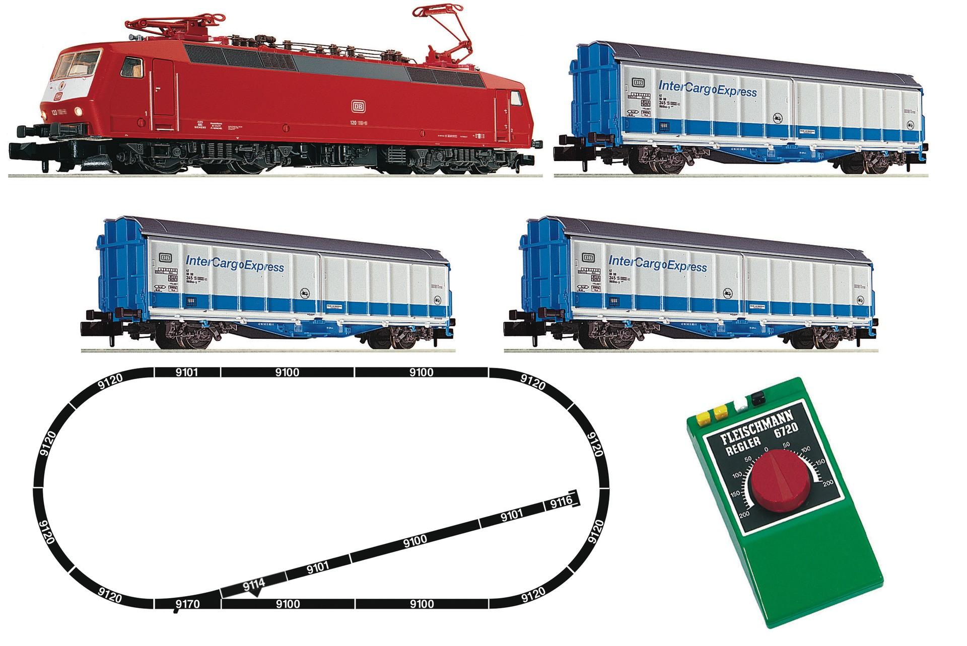 roco, fleischmann, starter-set, intercargoexpress ,                                                                                                                                                                                                                                                                                                                                                                                                                                                                                                                                                                                                                                                                                                                                                                                                                                                                                                                                                                                                                                                                                                                                                                                                                                                                                                                                                    DB 120 sorozatú villamos mozdony