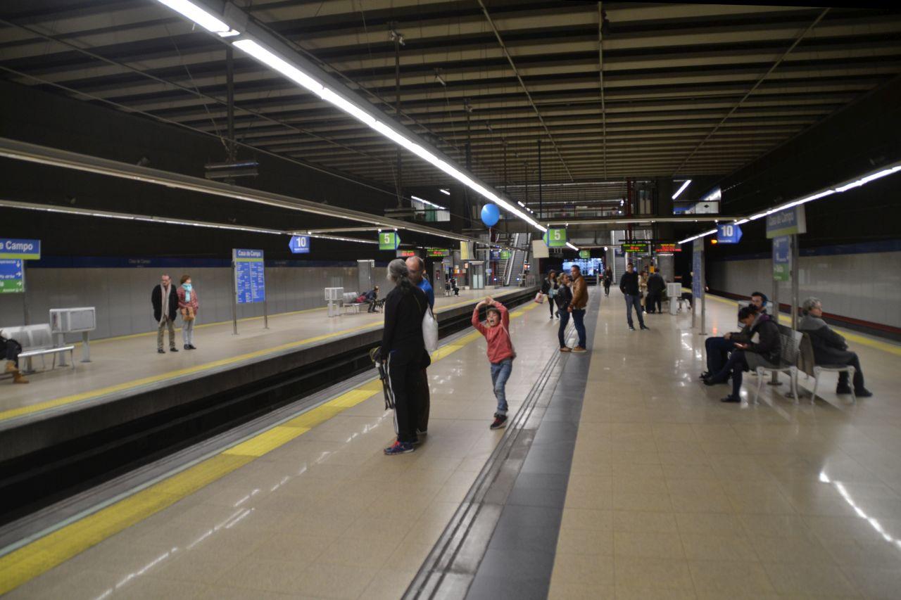 madrid, metró, peron