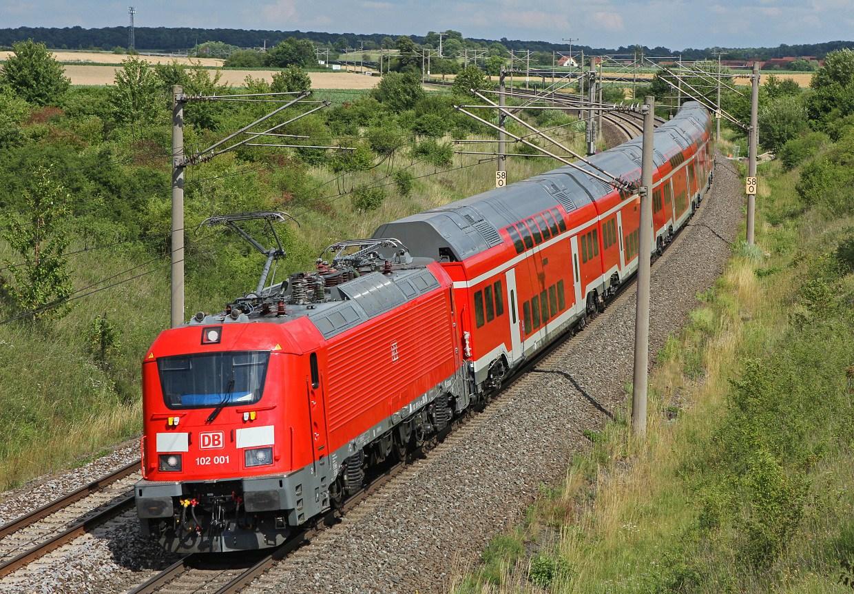 németország, regionális közlekedés, nagysebességű vasút, münchen, nürnberg, express, skoda 109e, db regio