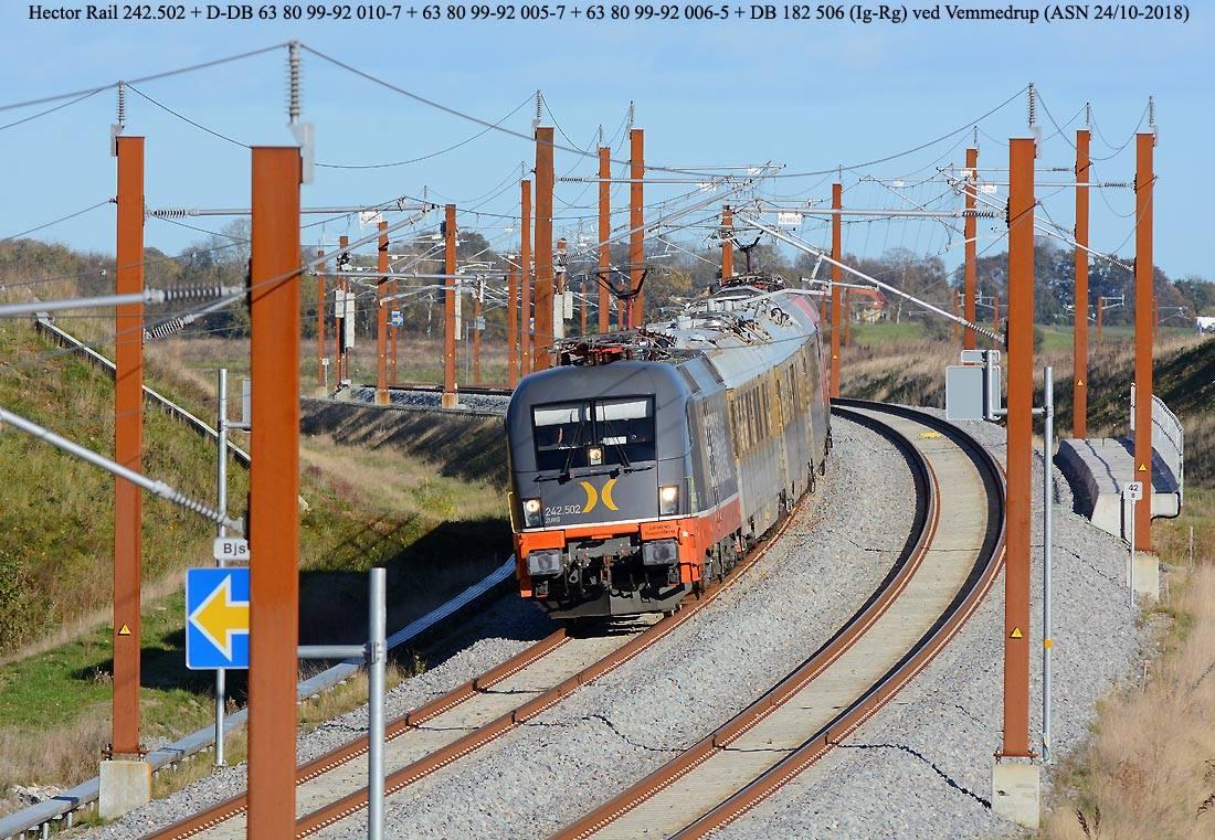 dánia, nagysebességű vasút, teszt, hector rail