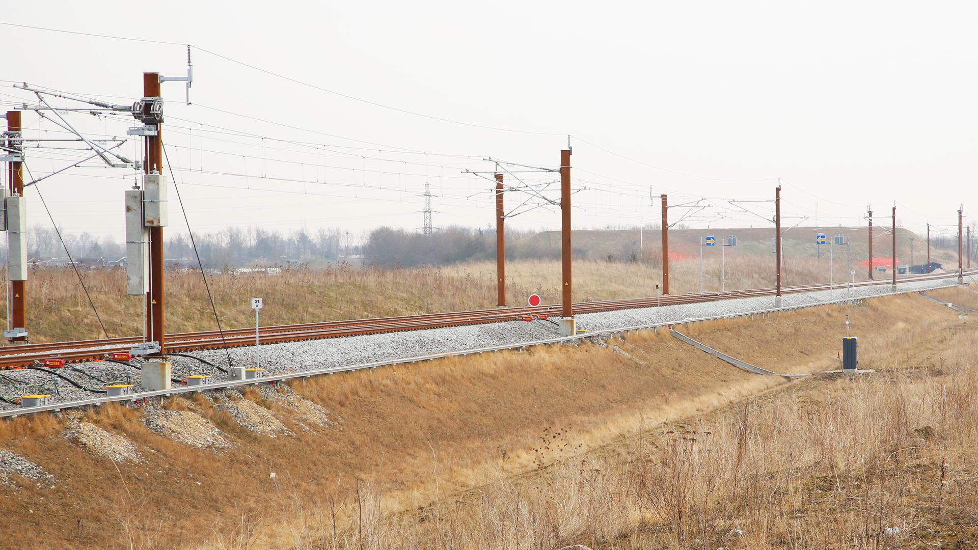 dánia, nagysebességű vasút