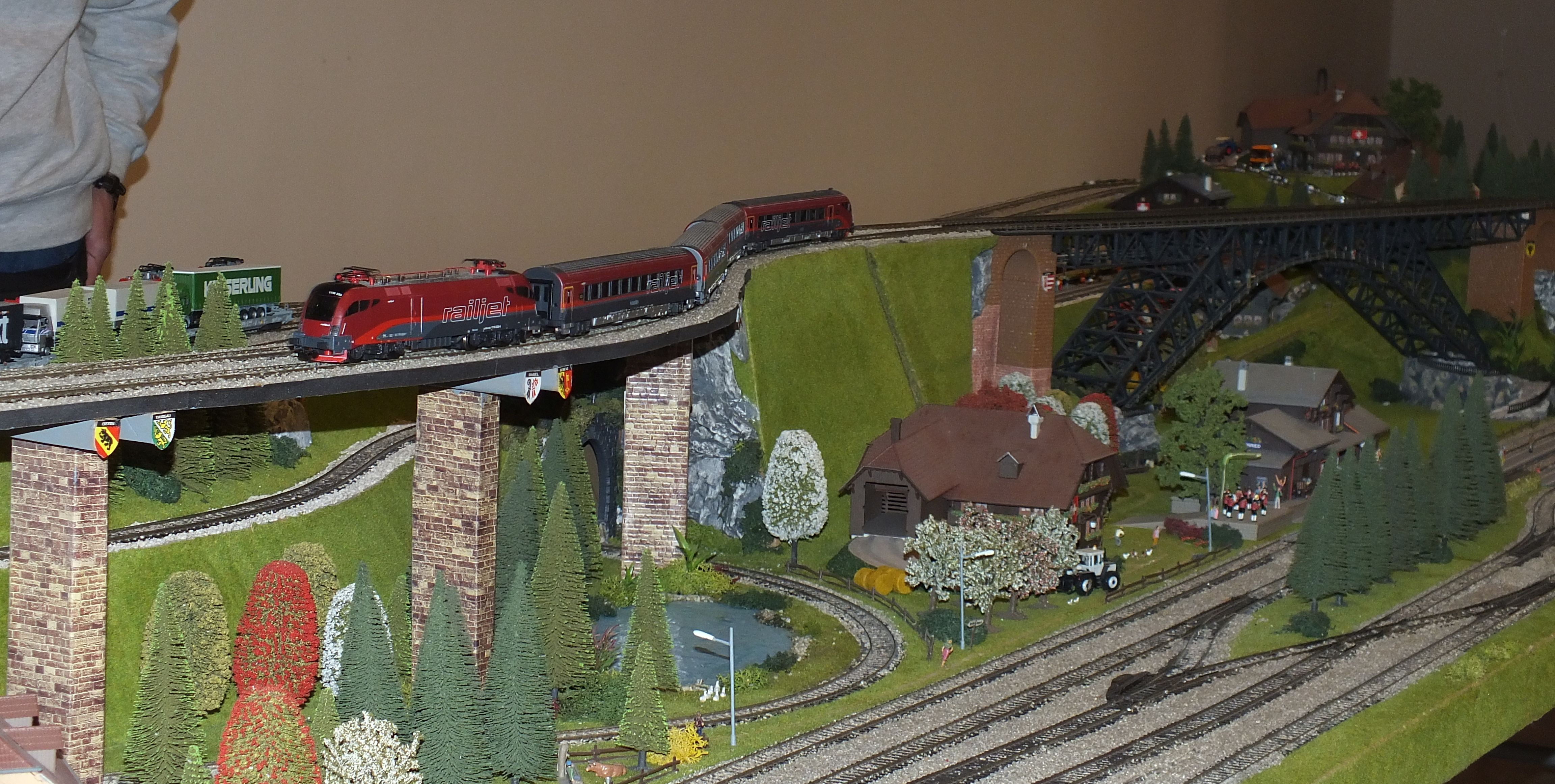 railjet, h0, kecskemét, terepasztal kiállítás, hirös agóra, modellvasút