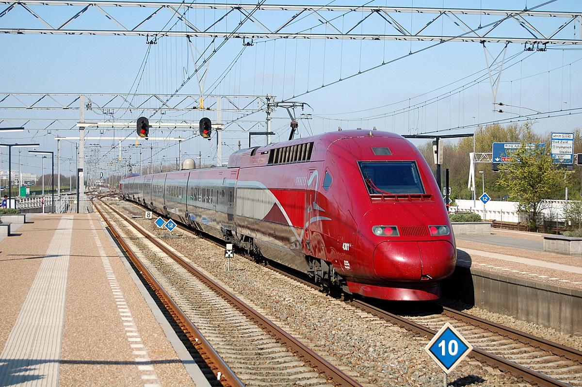 Thalys motorvonat Brüsszel