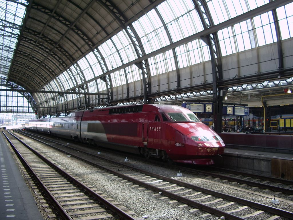 Thalys motorvonat Amszterdamban