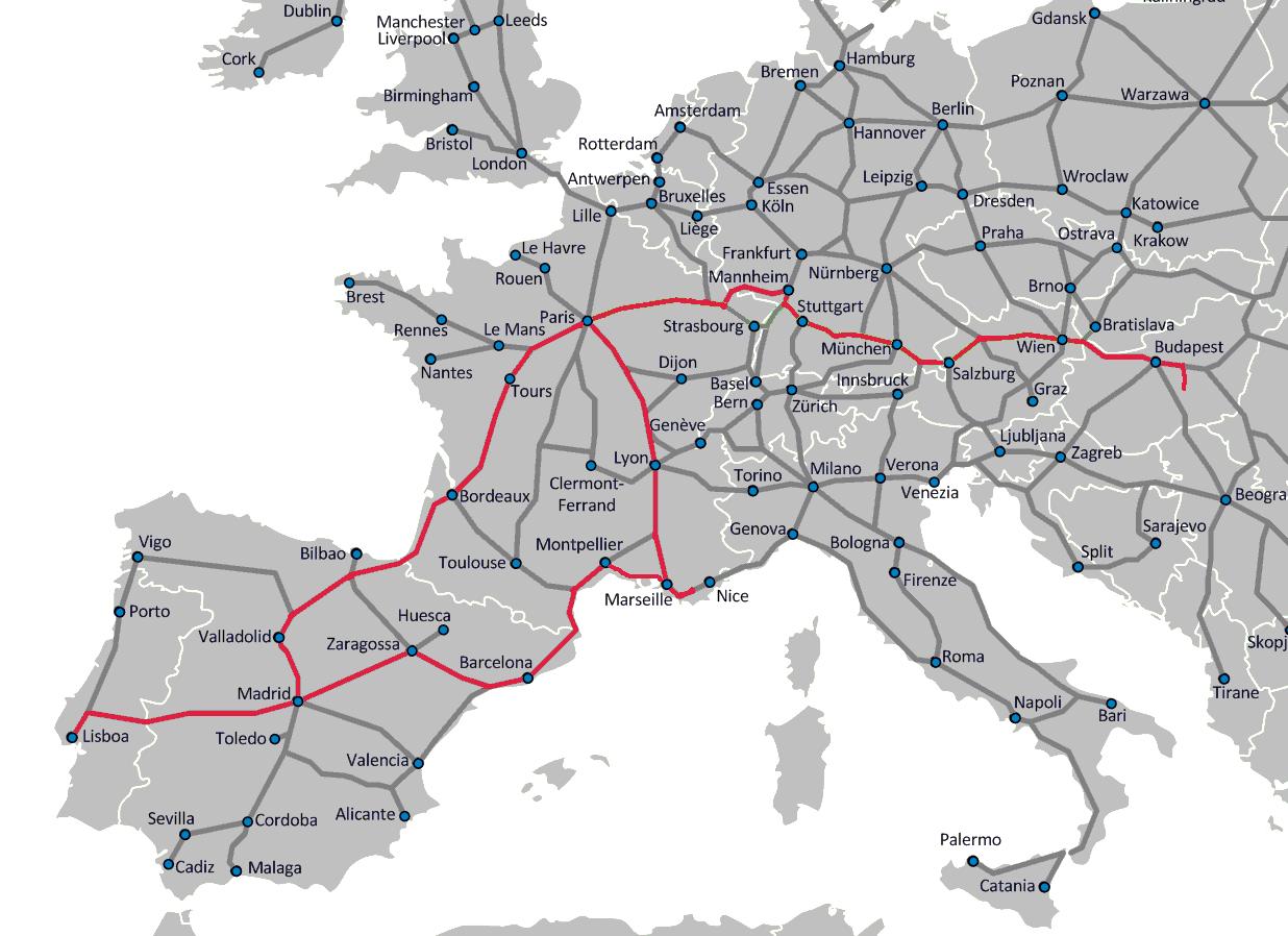 európa útvonal térkép InterRail jeggyel Európában 2.0   Folytatódik a kaland!   Vonattal  európa útvonal térkép