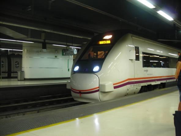 A RENFE 120 sorozat Barcelónában