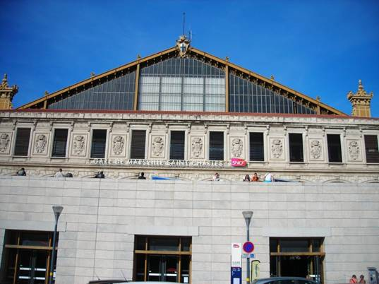Marseille Saint Charles pályaudvar homlokzata