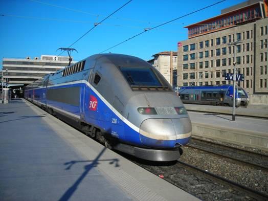 TGV Duplex - a TGV emeletes változata, ezzel a vonattal utaztam Párizsba