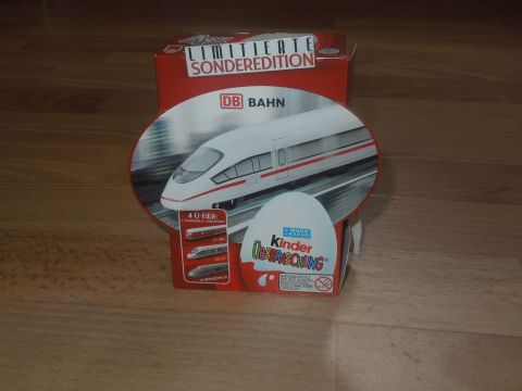 Kinder meglepetés limitált változat Deutsche Bahn