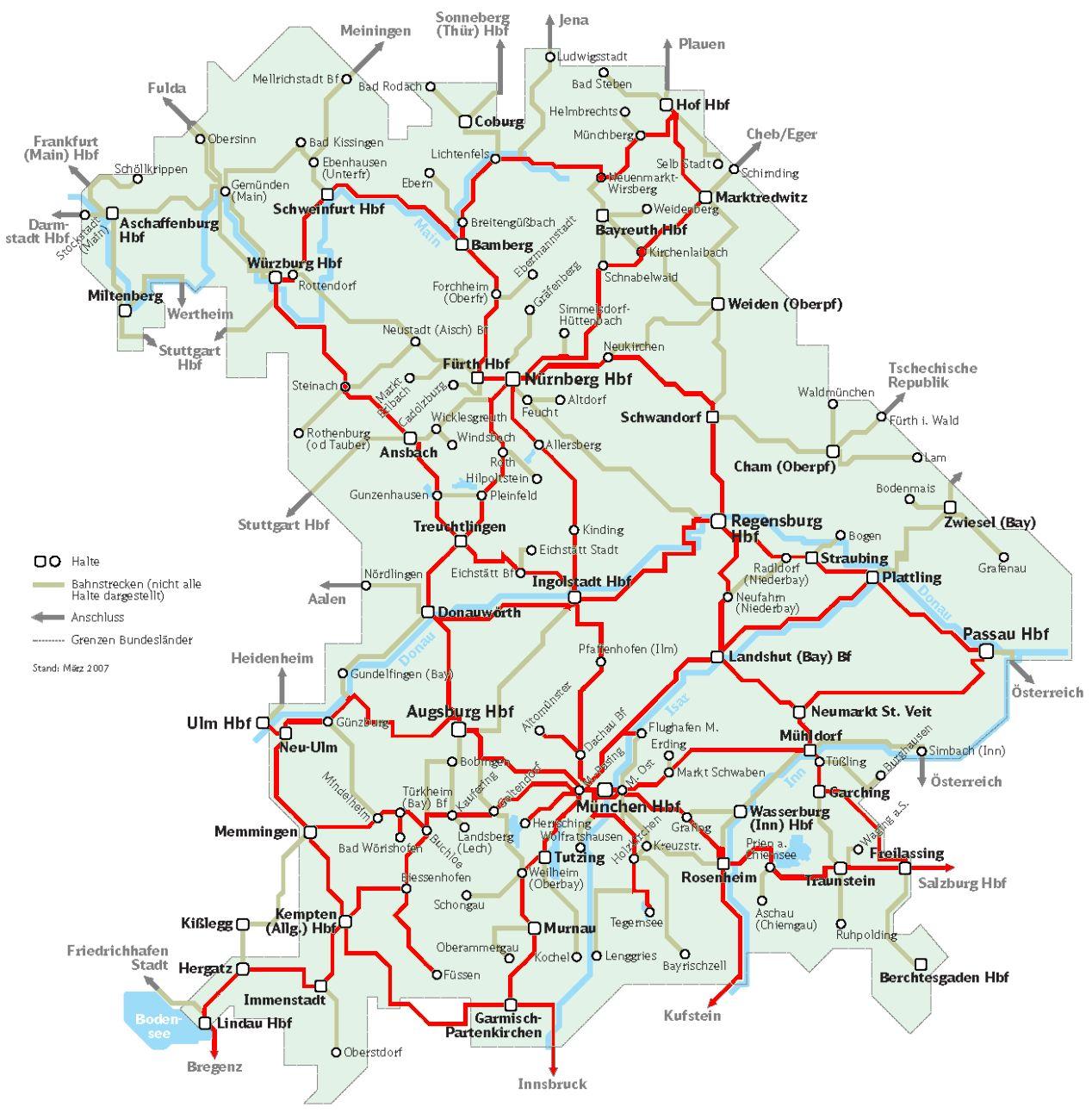 ausztria vasúti térkép Németország magyar szemmel   Vonattal? Természetesen! ausztria vasúti térkép