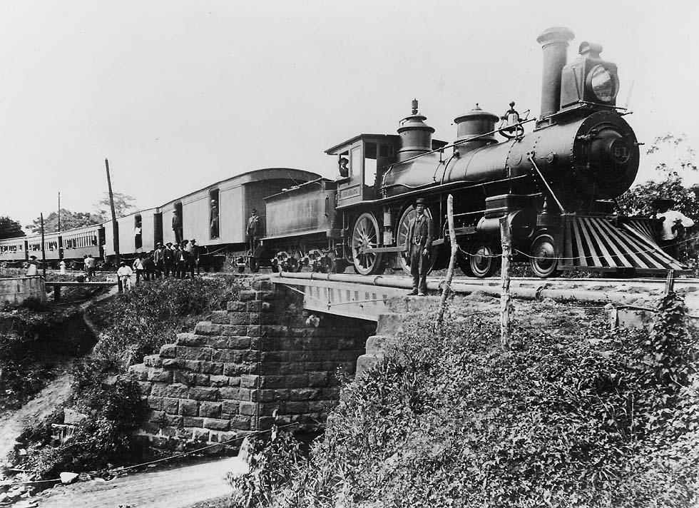 panama vasút gőzmozdony