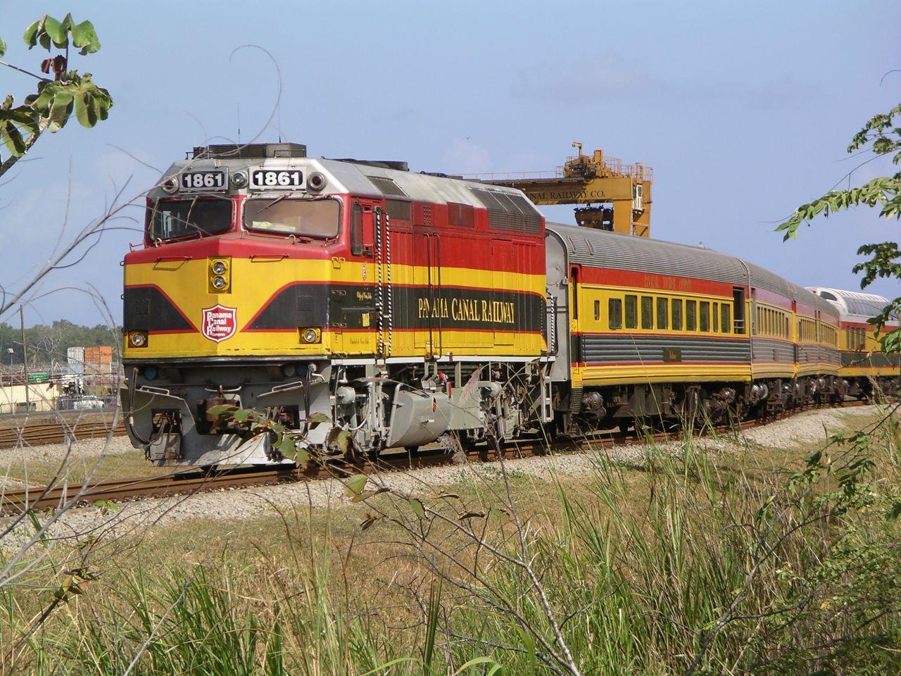 panama vasút dízelmozdony személykocsi