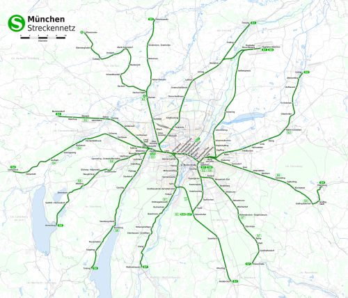 München S-Bahn térkép